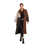 IC Collection Colorblock Faux Suede Long Jacket - 3352J-MLT
