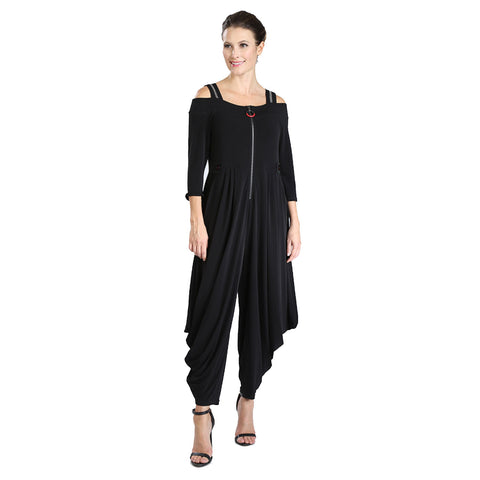 IC Collection Zip Front Harem Jumpsuit - 3430JS