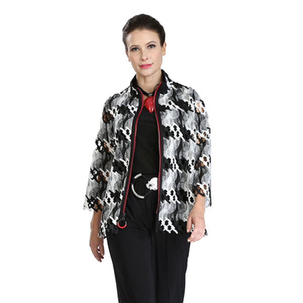 IC Collection Laser-Cut Zip Front Jacket - 3471J - Sizes S, XL & XXL