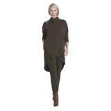 IC Collection Heathered Knit Turtleneck Tunic in Olive - 3575T-OLV
