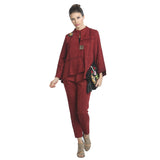 IC Collection Soft Faux Suede Jacket in Wine - 3993J-WNE