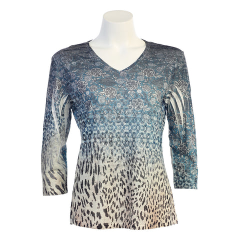 "The Jess and Jane ""Denim Cheetah"" design in Burnout Sublimation."