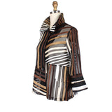 Damee Mixed Stripe Soutache Jacket in Gold/Multi  ♥ 2328-GLD