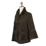 Damee NYC Polka Dot Corduroy Jacket in Olive - 4559-OLV