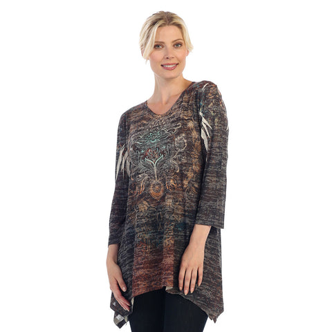 "Jess & Jane Burnout Tunic - ""Indiana"" in Multi - 47978"