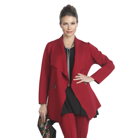 IC Collection Cutaway Cardigan in Red - 5143J-RED