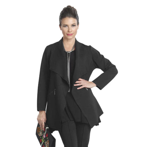 IC Collection Cutaway Cardigan in Black - 5143J-BLK