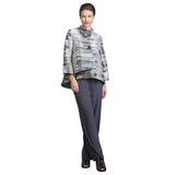 IC Collection Stripe Asymmetric Jacket - 5230J-GRY