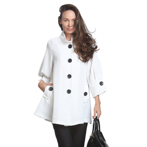 IC Collection Swing Style Jacket in White - 5241J-WHT - Size M Only