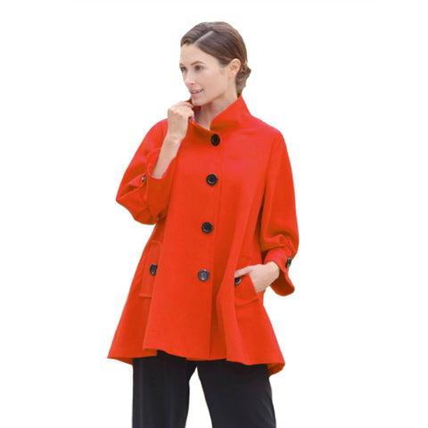 IC Collection Swing Jacket in Coral Red - 5241J-COR