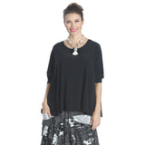 IC Collection Solid Loose Knit Top in Black - 6769T-BLK - Size S & XXL Only