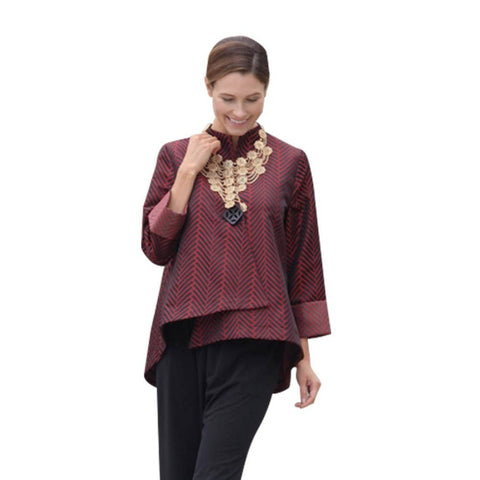 IC Collection Asymmetric Jacket in Red - 6930J