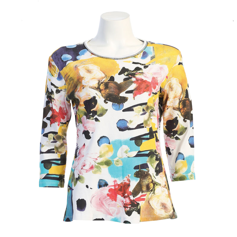 "Jess & Jane ""Emily"" Abstract Print Top - 14-1600"