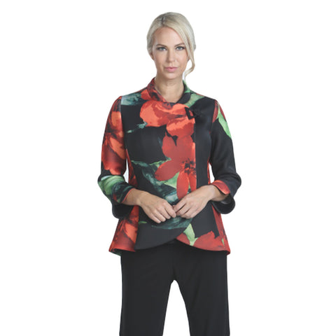 IC Collection Floral-Print Jacket in Multi - 7971J-BLK