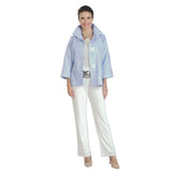 IC Collection Jacquard Jacket in Sky Blue/White - 8460J-SKY