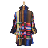 Damee Colorblock Knit Mock Neck Tunic in Multicolor - 9157-MLT- Size M Only!