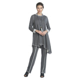 IC Collection Kerchief Angle Hem Tunic in Gray - 9187T-GRY