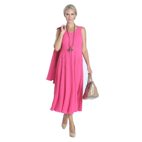 IC Collection Sleeveless Tank Dress in Pink - 9937D-PK - Size S Only