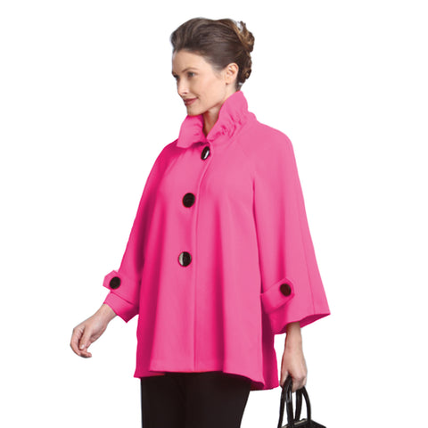 IC Collection Mid-Length Swing Jacket in Pink - 9948J-PK - Size S Only
