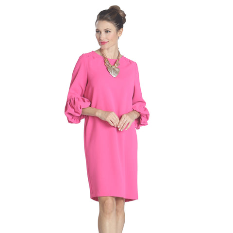 IC Collection Solid Dress in Pink - 9990D-PNK