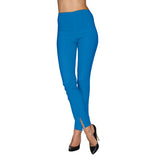 Mesmerize Pants with Front Ankle Slits and Front Zipper in Snorkel Blue - MA21-SNB