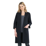 Clara Sunwoo Ponte Knit Open Front Cardigan in Black - CA412A-BK - Size S Only