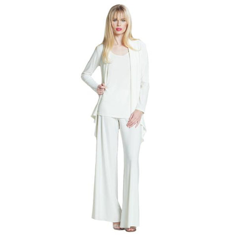 Clara Sunwoo Soft Stretch Knit Palazzo Pant in Ivory - LPT-IV