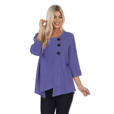 Focus Textured Point Hem Tunic in Violet - CG-102-VIO