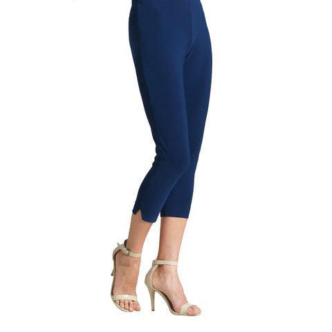Clara Sunwoo Solid Pull On Capri in Navy - CP1-NVY
