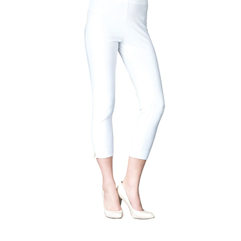 Clara Sunwoo Pull On Capri in White - CP1-WHT
