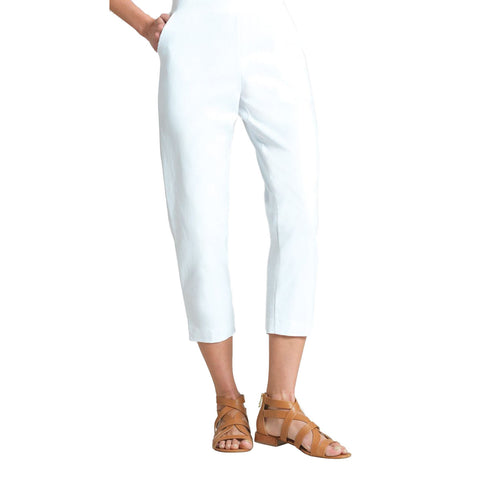 Clara Sunwoo Techno-Stretch Jogger Capri in White - CPB20C-WHT - Size M Only