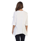Focus Patch-Pocket Ribbed Tunic in White - CS-330-WHT