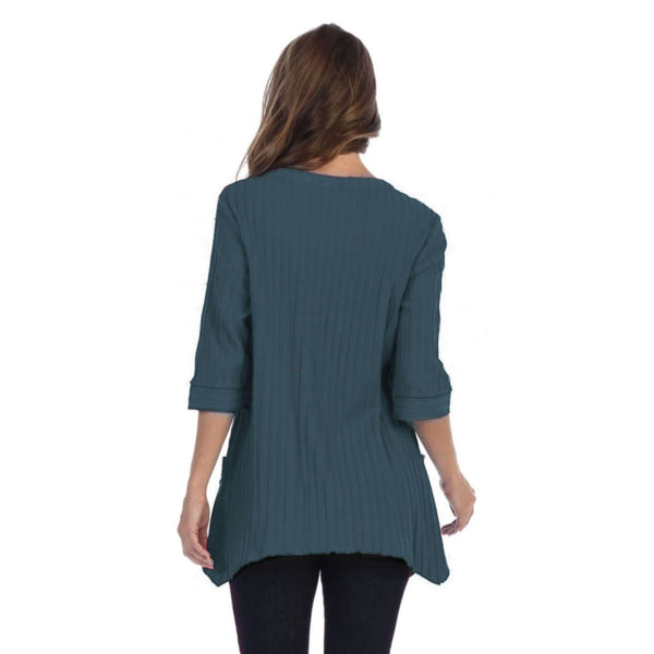 Focus Patch-Pocket Ribbed Tunic in Dark Teal - CS-330-DTL - Size S Only