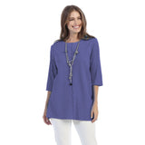 Focus Fashion Ribbed Texture Tunic in Violet - CS-342-VIO
