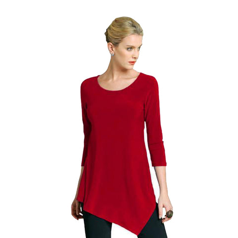 Clara Sunwoo Kerchief Hem Tunic in Red - T69RD - Size XS, S Only!