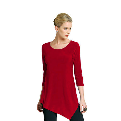 "Clara Sunwoo Tunic - ""Angella"" in Red - T69"
