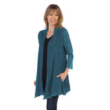 Jess & Jane Open Front Cardigan in Cypress - M57-CYP - Sizes L & 1X