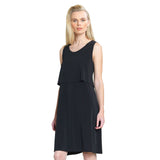 Clara Sunwoo Tiered A-Line Dress in Black - DR15-BLK-Size M Only