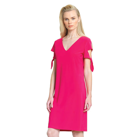 Clara Sunwoo Tie Sleeve Shift Dress in Pink - DR77-PK