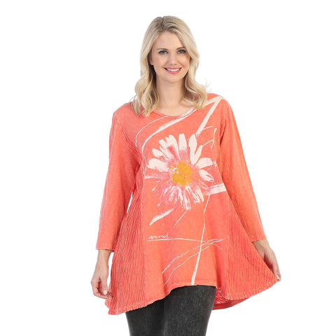 "Jess & Jane ""Chit Chat"" Abstract Print Mineral Washed Tunic - M55-1387"