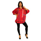 Dilemma Fashions Big Shirt with Stripe Applique in Fuchsia - GDB-389 FUS
