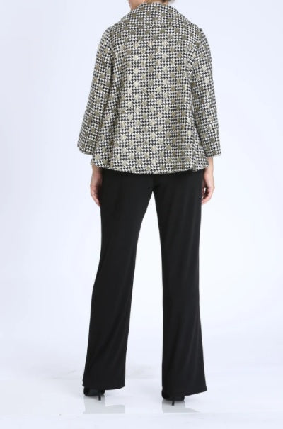 IC Collection Metallic Polka Dot Jacket in Gold - 3640J - Size S