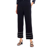 IC Collection Tiered Ruffle Pull-On Pant in Black & White - 2381P-BLK