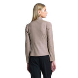 Liquid Leather Zip Jacket in Taupe - JK161-TPE - Sizes S & XL Only