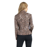 Clara Sunwoo Liquid Leather Zip Jacket in Cheetah Print - JK163P