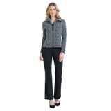 Clara Sunwoo Jacquard Geo Print Zip Jacket - JK68J4 - Sizes XS & 1X Only