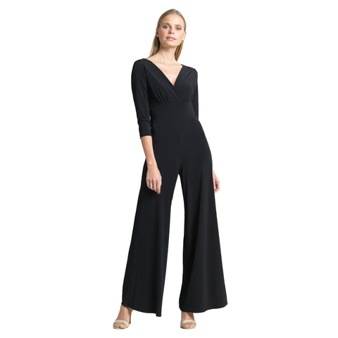 Clara Sunwoo 3/4 Sleeve Jumpsuit in Black - JU88L