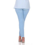 "Mesmerize ""Joe"" Straight Leg Ankle Pant in Light Denim Blue - Joe-LTBLU"