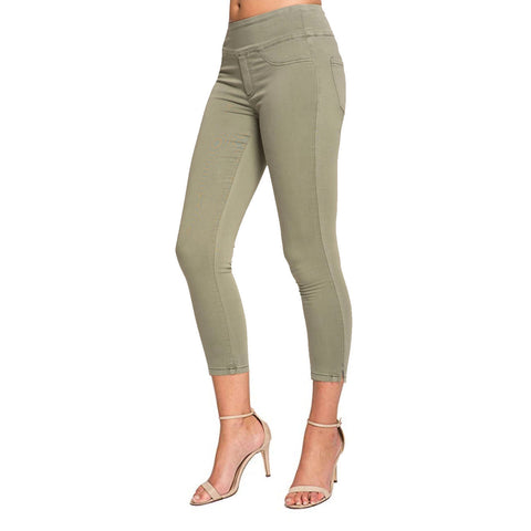 "Lior Paris Power Stretch ""Joy"" Skinny Crop Jean in Spring Green - Joy-SG"