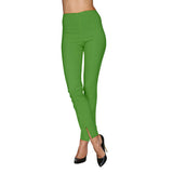 Mesmerize Pants with Front Ankle Slits and Front Zipper in Kelly Green - MA21-KGRN